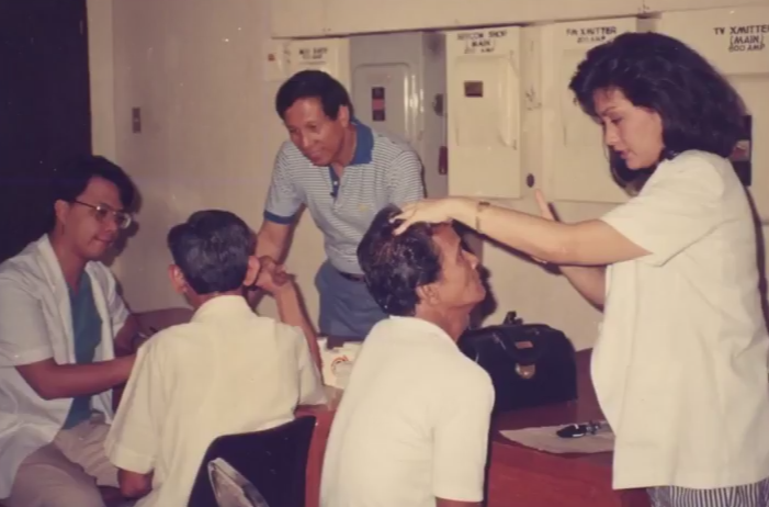 Dra. Padilla with colleagues in her younger years.